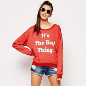Wildfox Coke Sweater It's the Real Thing Red M